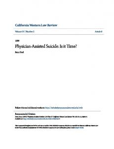 Physician-Assisted Suicide: Is it Time?