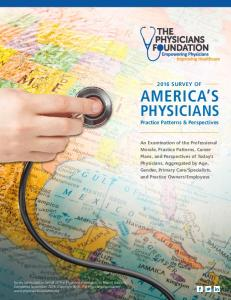 PHYSICIANS Practice Patterns & Perspectives