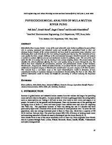 PHYSICOCHEMICAL ANALYSIS OF MULA MUTHA RIVER PUNE