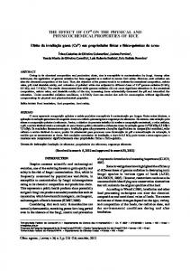 PHYSICOCHEMICAL PROPERTIES OF RICE