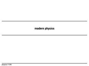 physics 112N modern physics