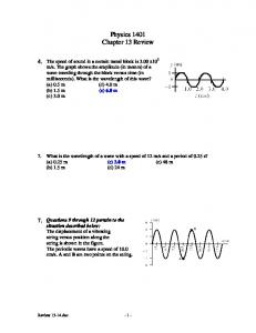 Physics 1401 Chapter 13 Review