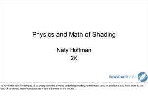 Physics and Math of Shading