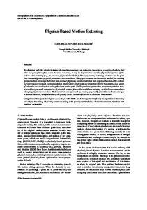 Physics-Based Motion Retiming