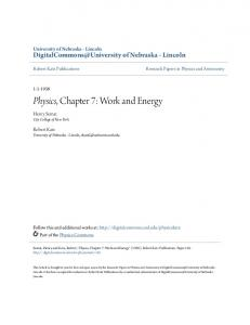 Physics, Chapter 7: Work and Energy