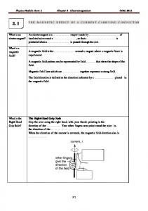 Physics Module Form 5 Chapter 3 - Electromagnetism GCKL 2011