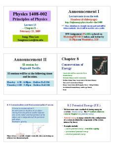 Physics Principles of Physics