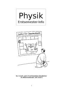 Physik Erstsemester-Info