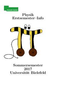 Physik Erstsemester Info