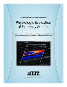 Physiologic Evaluation of Extremity Arteries