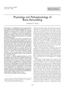 Physiology and Pathophysiology of Bone Remodeling
