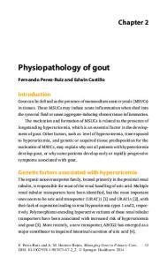 Physiopathology of gout