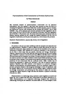 Phytoremediation of Soil Contamination by Petroleum Hydrocarbons