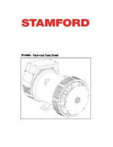 PI144H - Technical Data Sheet