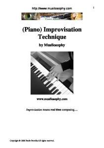 (Piano) Improvisation Technique