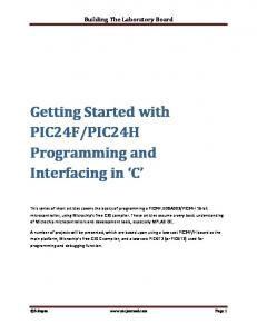 PIC24H Programming and Interfacing in C