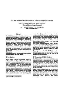 PICAR: experimental Platform for road tracking Applications