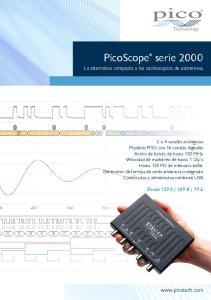 PicoScope serie La alternativa compacta a los osciloscopios de sobremesa