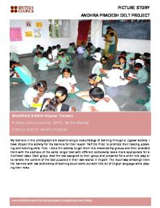 PICTURE STORY ANDHRA PRADESH DELT PROJECT