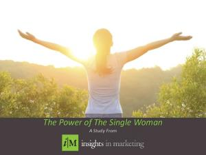 PICTURE. The Power of The Single Woman A Study From