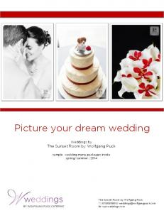 Picture your dream wedding