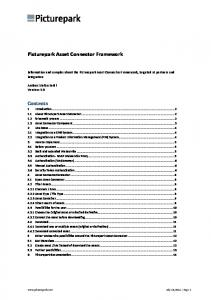 Picturepark Asset Connector Framework