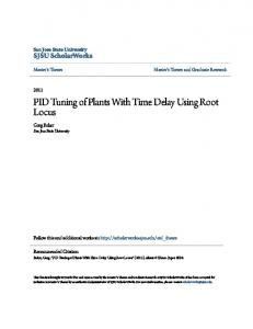 PID Tuning of Plants With Time Delay Using Root Locus