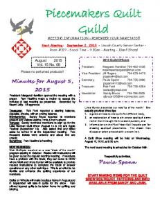 Piecemakers Quilt Guild