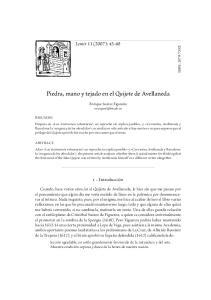 Piedra, mano y tejado en el Quijote de Avellaneda