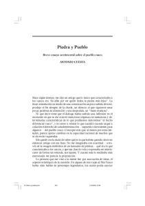 Piedra y Pueblo. Breve ensayo sentimental sobre el pueblo vasco ANTONIO CUESTA
