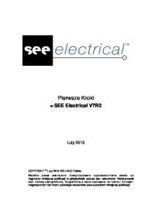 Pierwsze Kroki. w SEE Electrical V7R2. Luty 2015