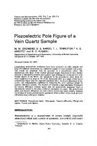 Piezoelectric Pole Figure of a