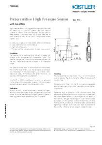 Piezoresistive High Pressure Sensor
