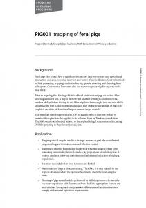 PIG001 trapping of feral pigs