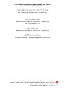 PILOMATRICOMA MALIGNO RELATO DE CASO MALIGNANT PILOMATRICOMA CASE REPORT
