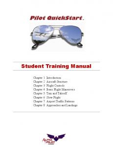Pilot QuickStart TM. Student Training Manual