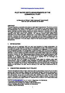 PILOT WATER DEPTH MEASUREMENTS BY THE COMMERCIAL FLEET