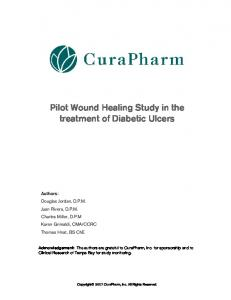 Pilot Wound Healing Study in the treatment of Diabetic Ulcers