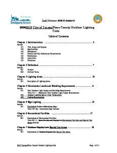 Pima County Outdoor Lighting Code