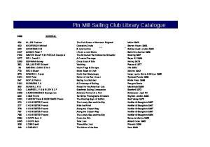 Pin Mill Sailing Club Library Catalogue