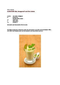 Pina Colada Cocktail Mit Kiwi, Orangensaft und Pina Colada