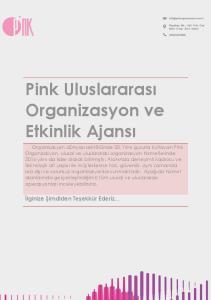 Pink Uluslararası Organizasyon ve Etkinlik Ajansı