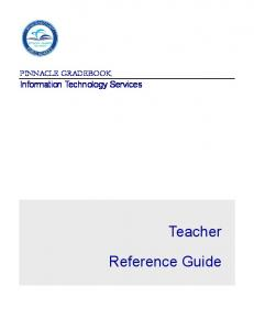 PINNACLE GRADEBOOK Information Technology Services. Reference Guide
