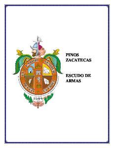 PINOS ZACATECAS ESCUDO DE ARMAS