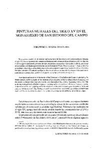 PINTURAS MURALES DEL SIGLO XV EN EL MONASTERIO DE SAN ISIDORO DEL CAMPO
