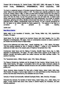 Pioneer Life in Kentucky: Dr. Daniel Drake, , 1999, 148 pages, Dr. Drake, Daniel Drake, , , Xlibris Corporation, 1999