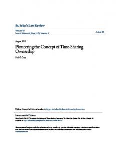 Pioneering the Concept of Time-Sharing Ownership