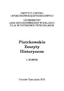 Piotrkowskie Zeszyty Historyczne