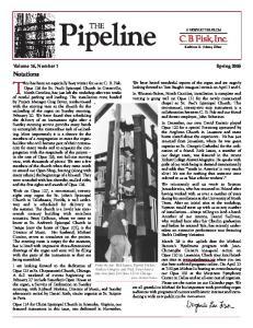 Pipeline. Volume 16, Number 1 Spring 2005