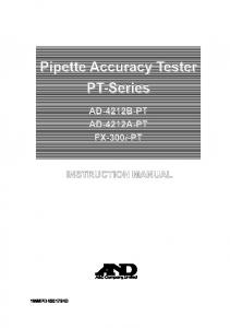 Pipette Accuracy Tester PT-Series